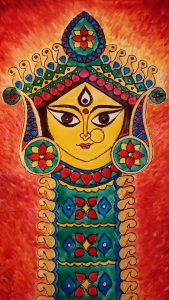 Durga Idol Art Glass Paint 10-1