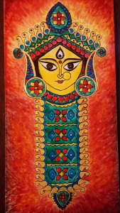 Durga Idol Art Glass Paint 10-2