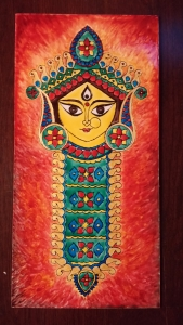 Durga Idol Art Glass Paint 10-3