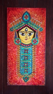Durga Idol Art Glass Paint 11