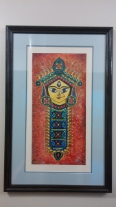 Durga Idol Art Glass Paint 13