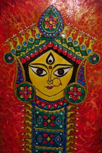 Durga Idol Art Glass Paint 2