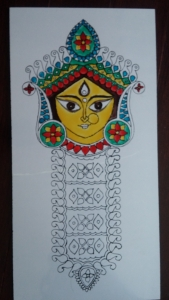 Durga Idol Art Glass Paint 5