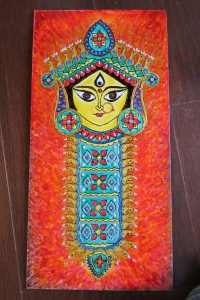 Durga Idol Art Glass Paint 8