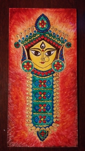 Durga Idol Art Glass Paint 9